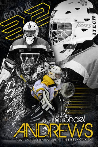 Hockey v.5 - Action Extraction Poster/Banner-Photoshop Template - Photo Solutions