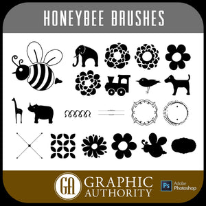 Honeybee Collection Photoshop ABR Brushes-Photoshop Template - Graphic Authority
