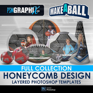 Honeycomb - V.1 - Make-A-Ball Full Template Collection-Photoshop Template - PSMGraphix