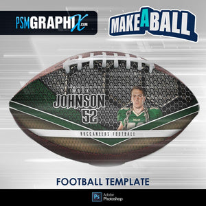 Honeycomb - V.1 - Football  (Full Size) - Make-A-Ball Photoshop Template-Photoshop Template - PSMGraphix