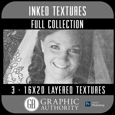 Inked - 16x20 Layered Textures - Full Collection