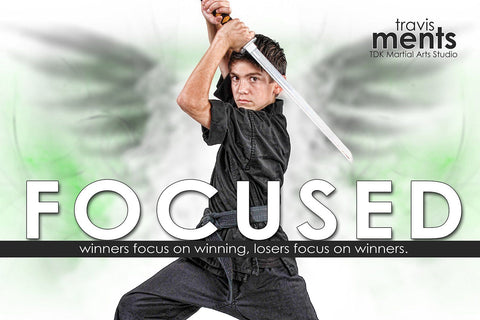 Focused - Inspire Series - Poster/Banner H-Photoshop Template - Photo Solutions