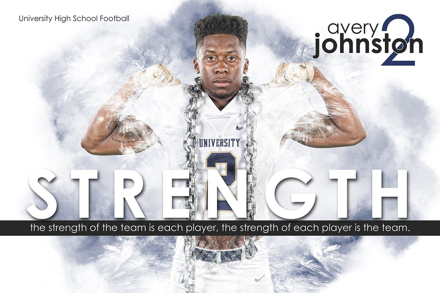 Strength - Inspire Series - Poster/Banner H-Photoshop Template - Photo Solutions