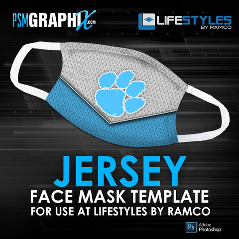 Jersey - Face Mask Template (Ramco)-Photoshop Template - PSMGraphix