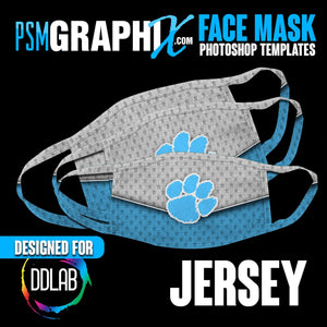 Jersey - Face Mask Template Set (DDLAB) 3 Sizes-Photoshop Template - PSMGraphix