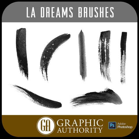 LA Dreams Collection Photoshop ABR Brushes-Photoshop Template - Graphic Authority