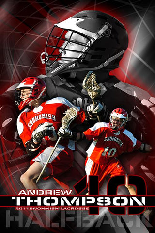 Lacrosse v.5 - Action Extraction Poster/Banner