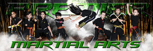 Bamboo Forest - Martial Arts Series - Poster/Banner Panoramic Photoshop Template -  PSMGraphix