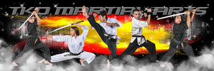 Brick Fire - Martial Arts Series - Poster/Banner Panoramic Photoshop Template -  PSMGraphix