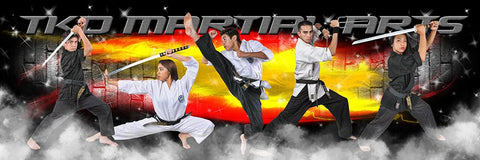 Brick Fire - Martial Arts Series - Poster/Banner Panoramic-Photoshop Template - Photo Solutions