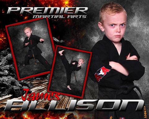 Devastation - Martial Arts Series -  Drop In Poster/Banner Photoshop Template -  PSMGraphix