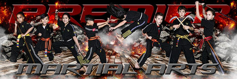 Devastation - Martial Arts Series - Poster/Banner Panoramic Photoshop Template -  PSMGraphix