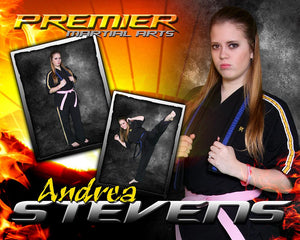 Fire Sunset  - Martial Arts Series -  Drop In Poster/Banner-Photoshop Template - Photo Solutions