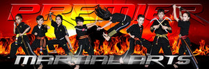 Fire Sunset - Martial Arts Series - Poster/Banner Panoramic-Photoshop Template - Photo Solutions