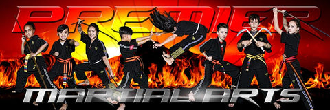 Fire Sunset - Martial Arts Series - Poster/Banner Panoramic