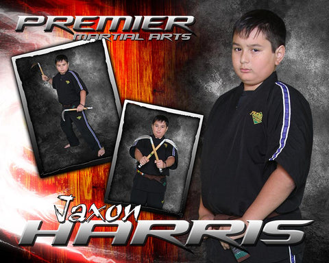 Hardwood Flare - Martial Arts Series -  Drop In Poster/Banner-Photoshop Template - Photo Solutions