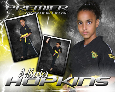Lightning - Martial Arts Series -  Drop In Poster/Banner-Photoshop Template - Photo Solutions
