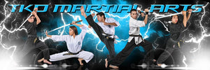 Lightning - Martial Arts Series - Poster/Banner Panoramic-Photoshop Template - Photo Solutions