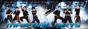 Rain Storm - Martial Arts Series - Poster/Banner Panoramic-Photoshop Template - Photo Solutions
