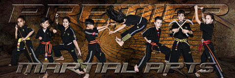 Rising Sun - Martial Arts Series - Poster/Banner Panoramic-Photoshop Template - Photo Solutions