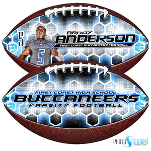 Honeycomb - Make-A-Ball - Football Template-Photoshop Template - Photo Solutions