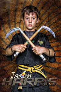 Rising Sun - Martial Arts Series - Poster/Banner V-Photoshop Template - Photo Solutions