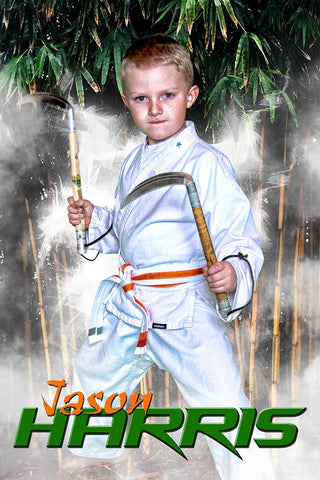 Bamboo Forest - Martial Arts Series - Poster/Banner V-Photoshop Template - Photo Solutions