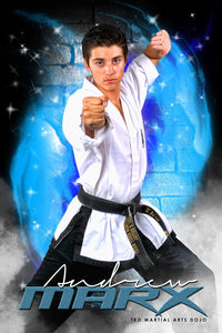 Brick Fire - Martial Arts Series - Poster/Banner V-Photoshop Template - Photo Solutions