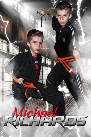 Electric Dojo - Martial Arts Series - Poster/Banner V-Photoshop Template - Photo Solutions