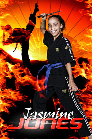 Fire Sunset - Martial Arts Series - Poster/Banner V
