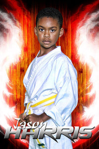 Hardwood Flare - Martial Arts Series - Poster/Banner V-Photoshop Template - Photo Solutions