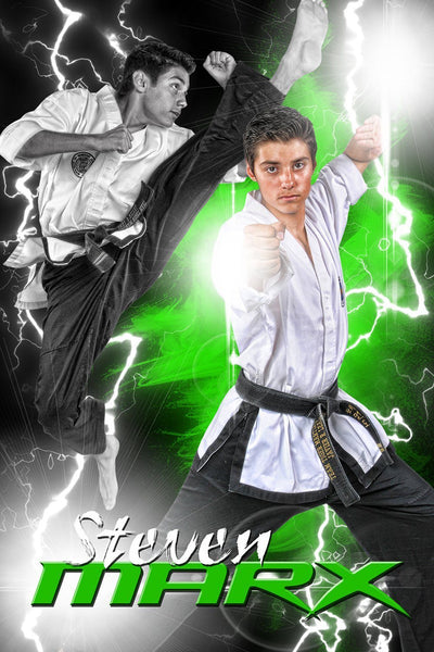 Lightning - Martial Arts Series - Poster/Banner V-Photoshop Template - Photo Solutions