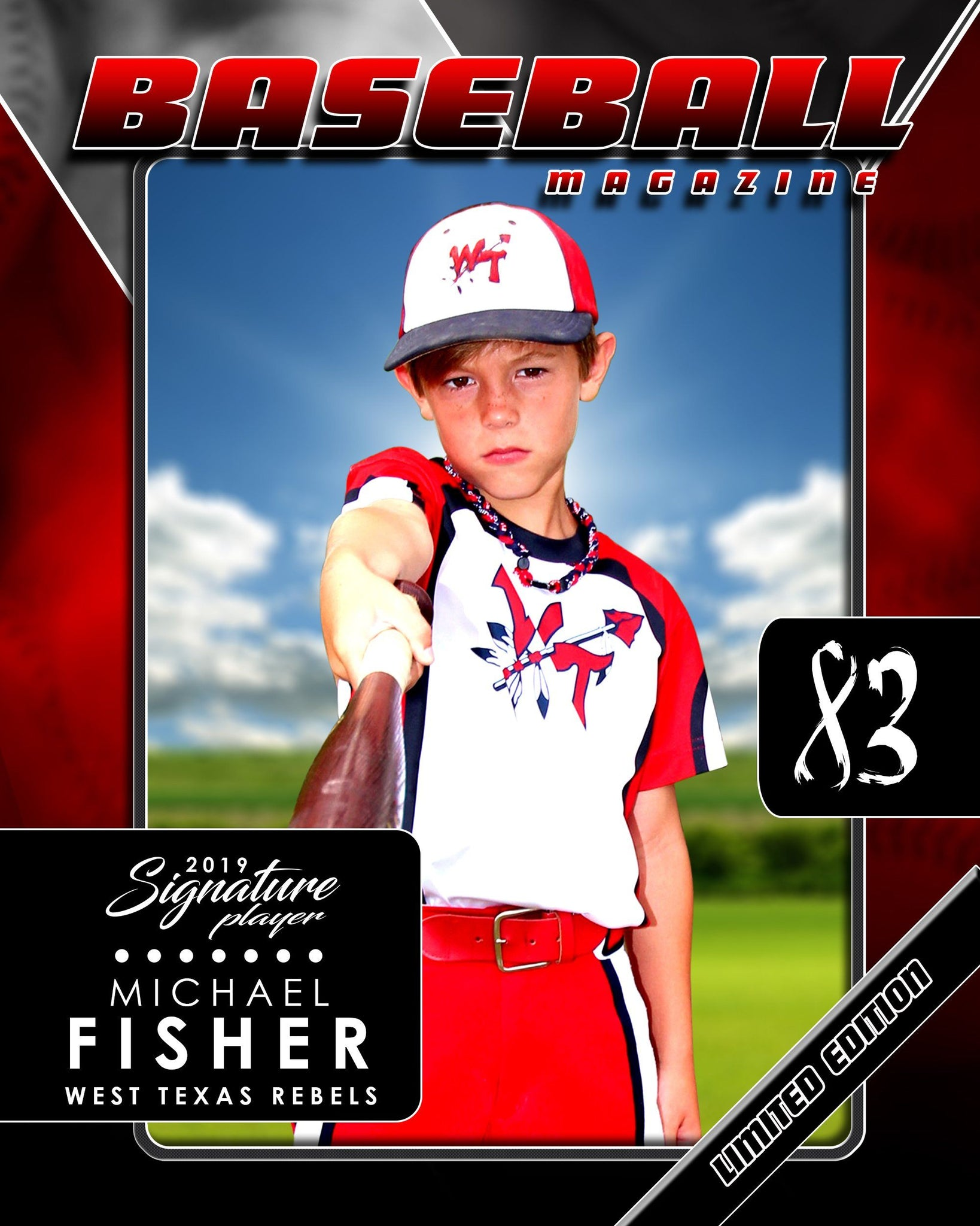 Signature Player - Baseball - V2 - Drop-In Magazine Cover Template-Photoshop Template - Photo Solutions