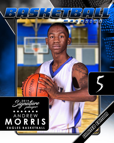 Signature Player - Basketball - V2 - Drop-In Magazine Cover Template