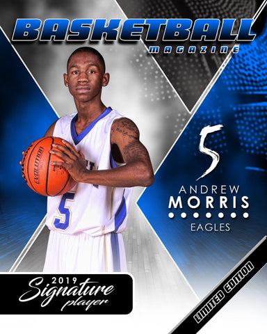 Signature Player - Basketball - V2 - Extraction Magazine Cover Template Downloadable Template Photo Solutions PSMGraphix