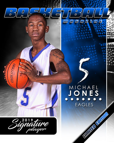 Signature Player - Basketball - V1 - Extraction Magazine Cover Template Downloadable Template Photo Solutions PSMGraphix