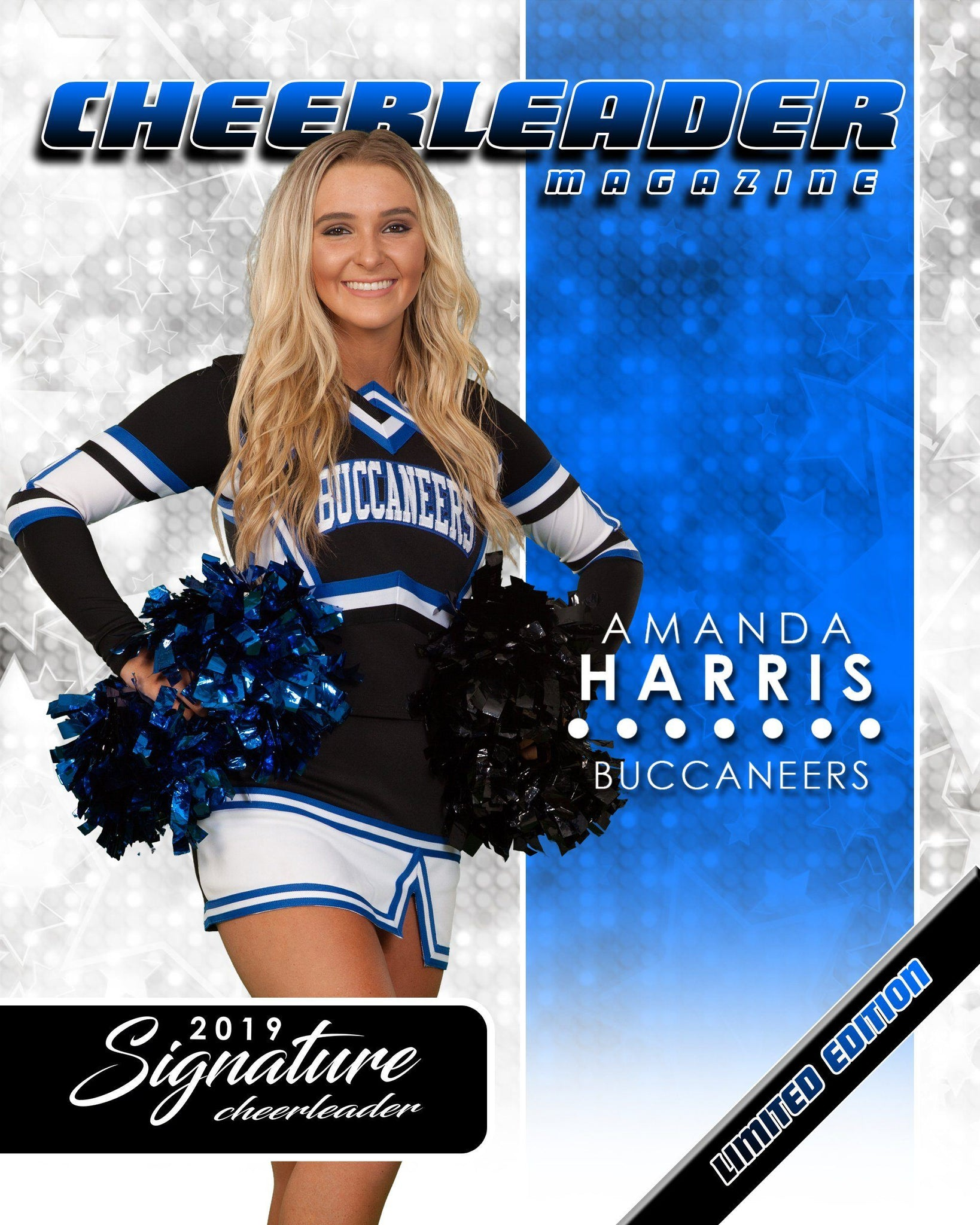 Signature Player - Cheer - V1 - Extraction Magazine Cover Template-Photoshop Template - Photo Solutions