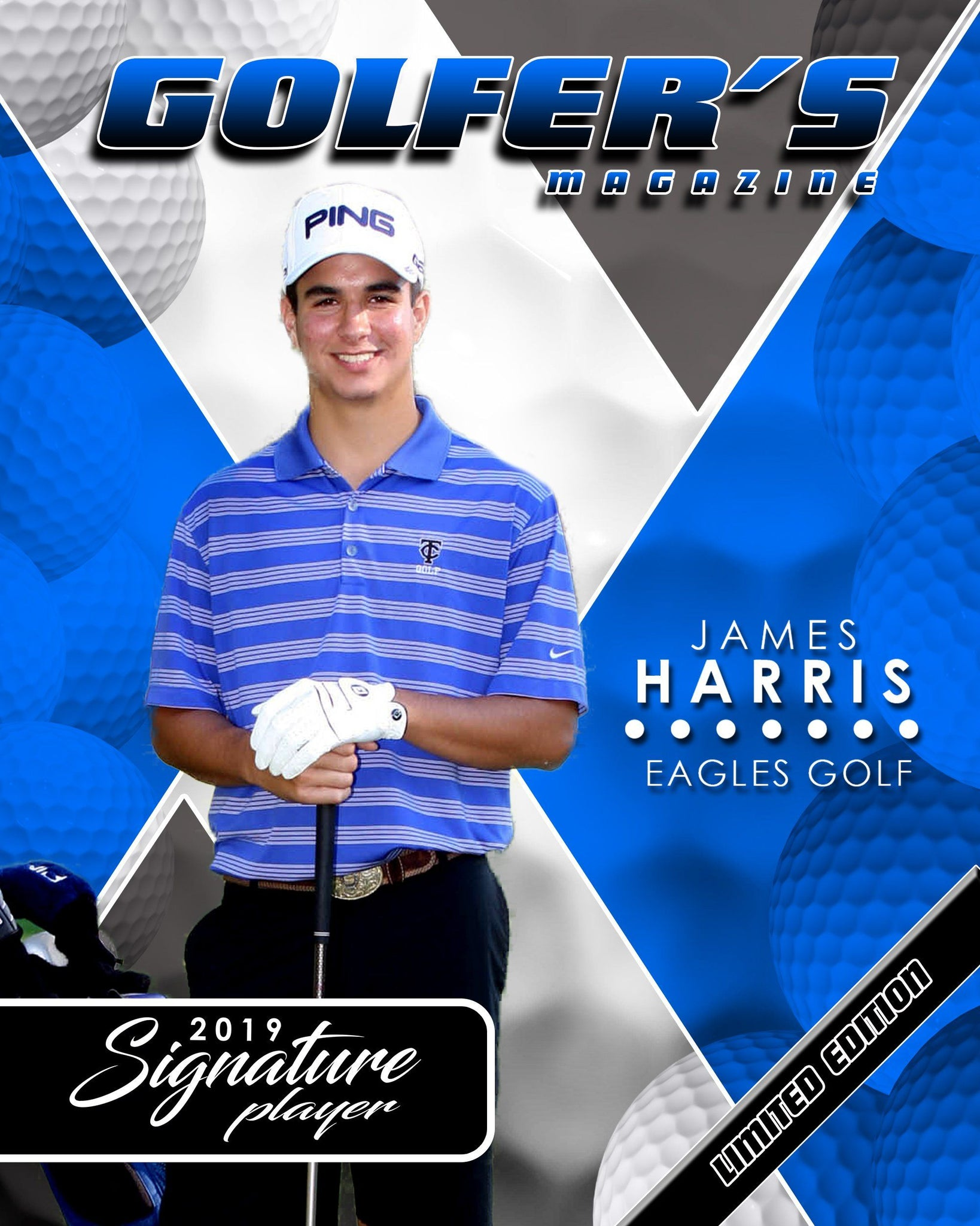 Signature Player - Golf - V2 - Extraction Magazine Cover Template-Photoshop Template - Photo Solutions