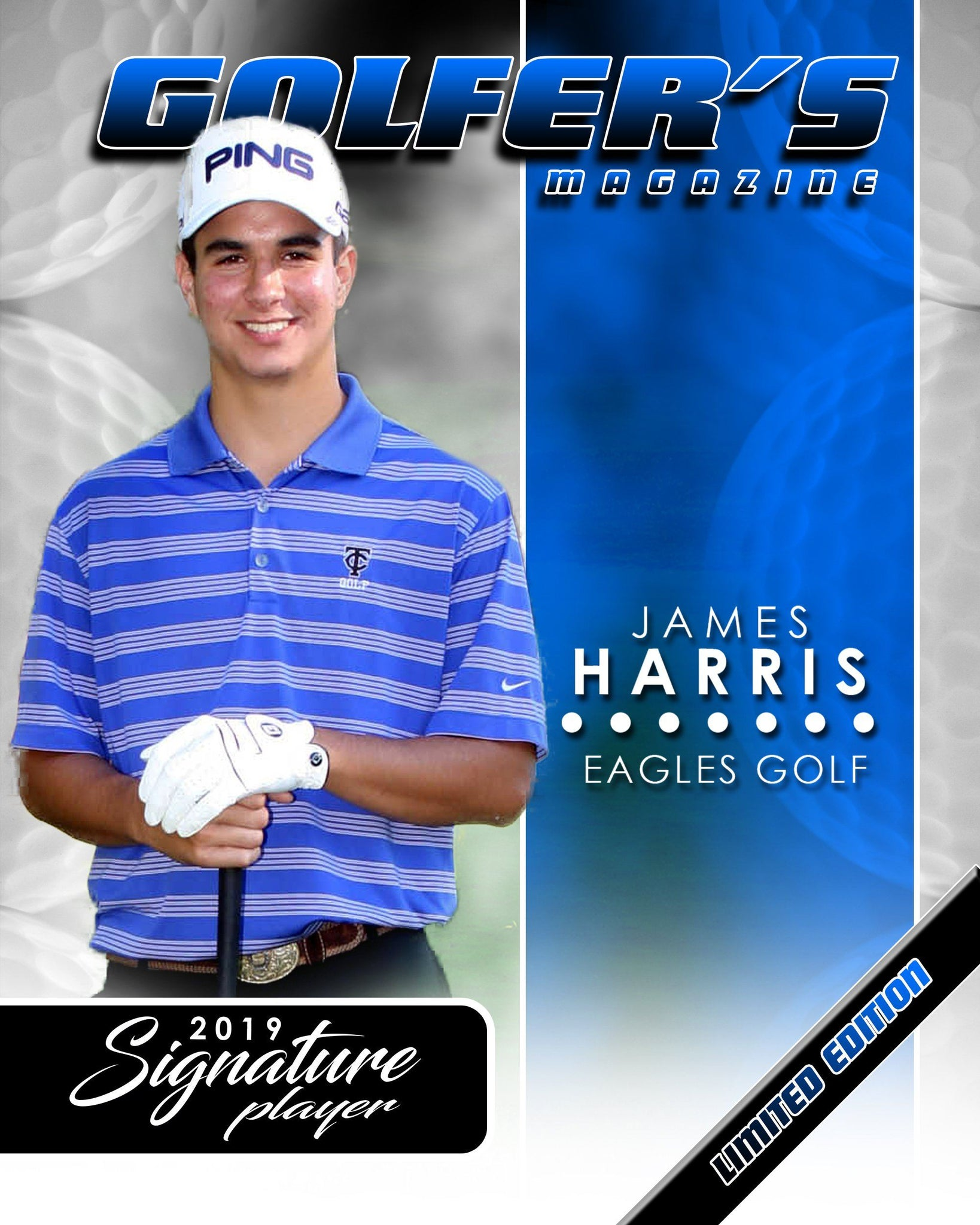 Signature Player - Golf - V1 - Extraction Magazine Cover Template-Photoshop Template - Photo Solutions