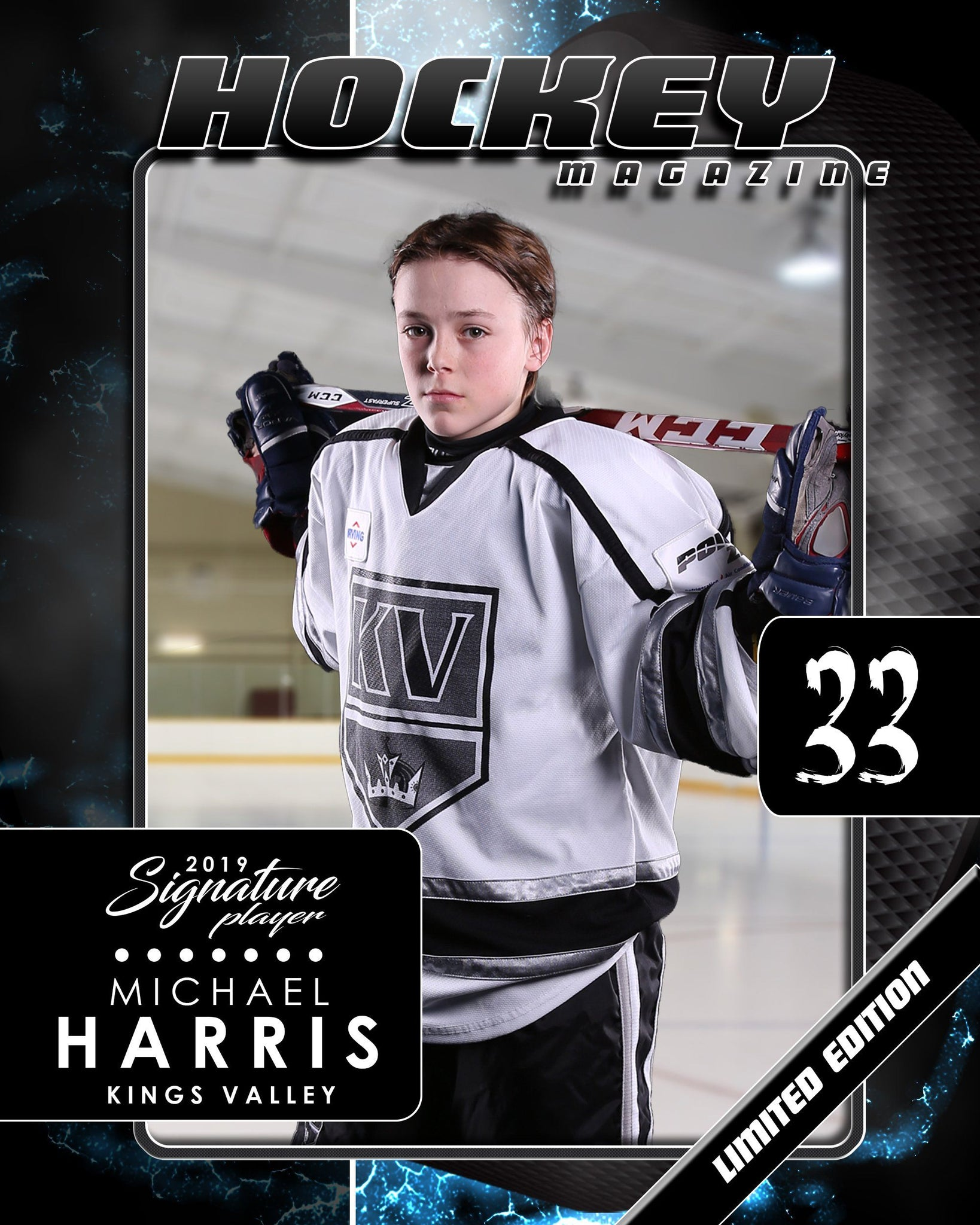 Signature Player - Hockey - V1 - Drop-In Magazine Cover Template-Photoshop Template - Photo Solutions