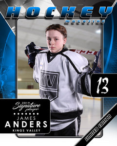 Signature Player - Hockey - V2 - Drop-In Magazine Cover Template-Photoshop Template - Photo Solutions