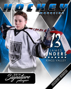 Signature Player - Hockey - V2 - Extraction Magazine Cover Template-Photoshop Template - Photo Solutions