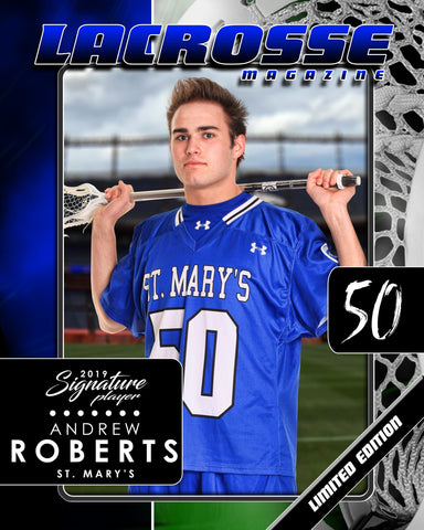 Signature Player - Lacrosse - V1 - Drop-In Magazine Cover Template