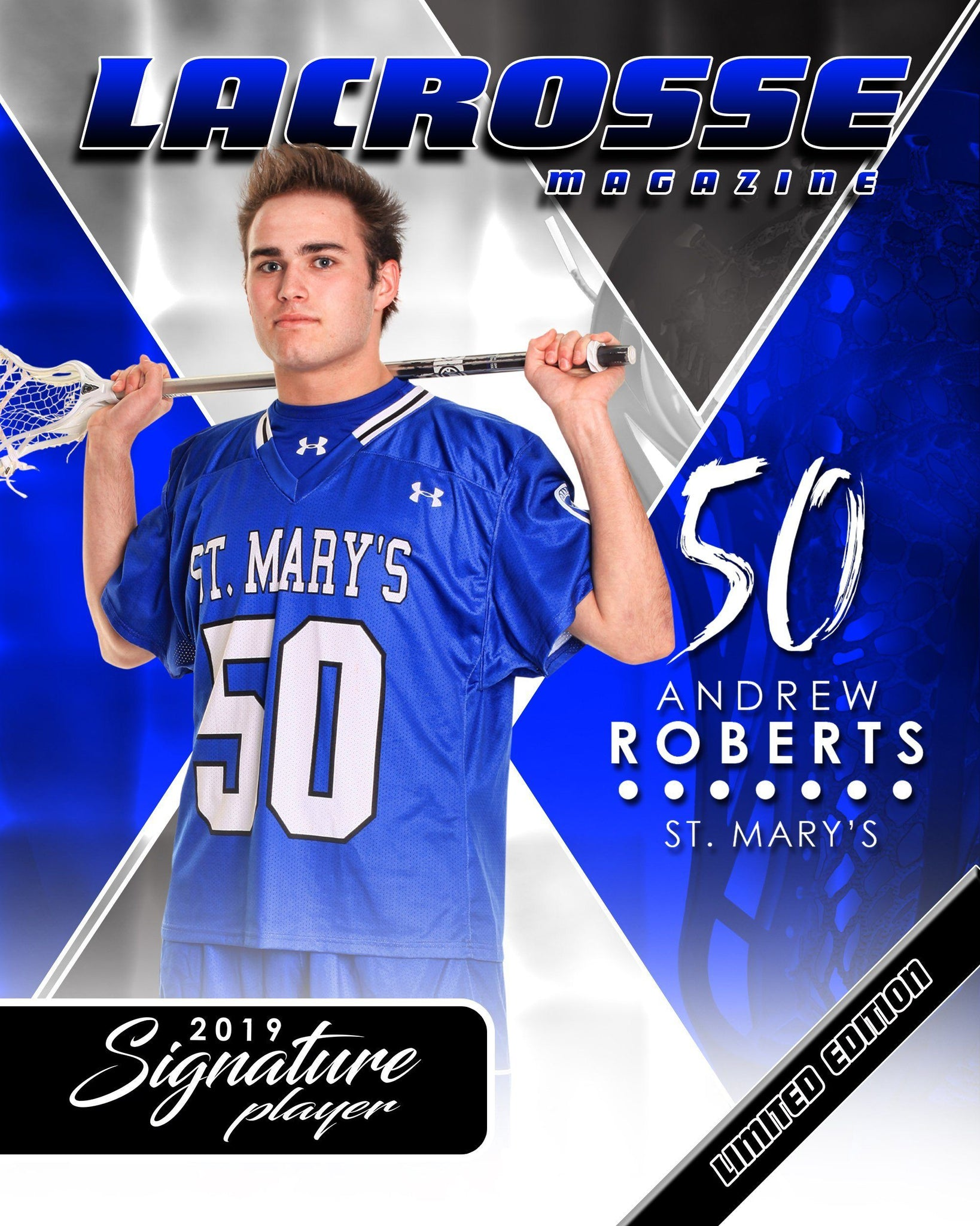 Signature Player - Lacrosse - V2 - Extraction Magazine Cover Template-Photoshop Template - Photo Solutions