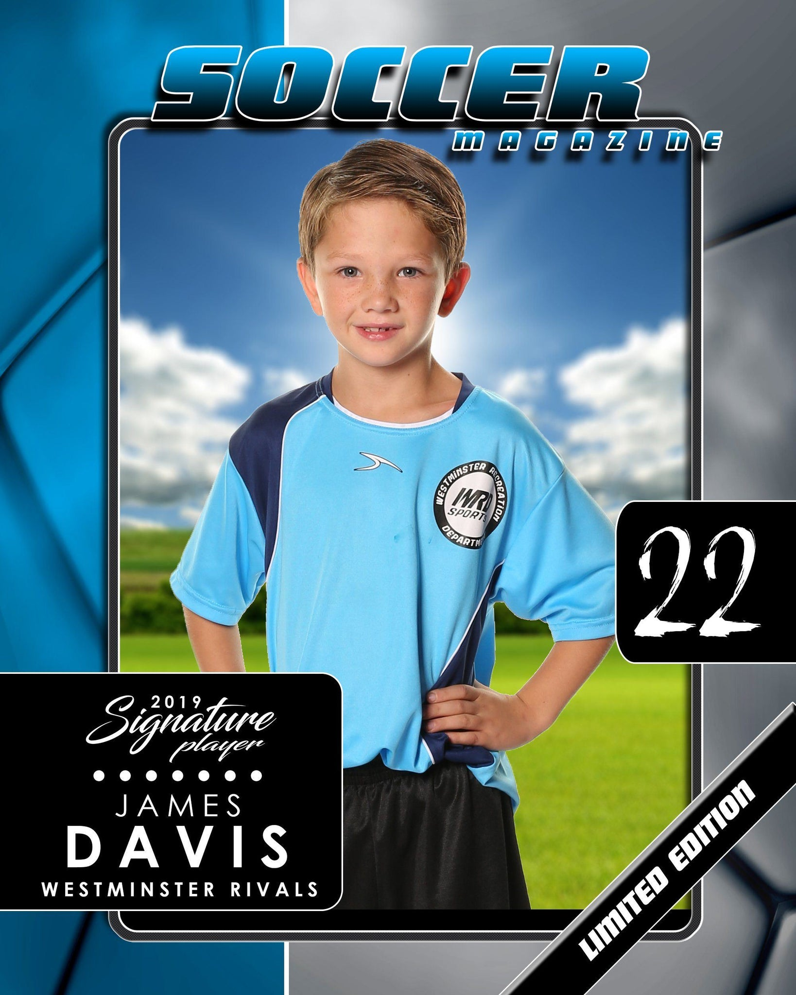 Signature Player - Soccer - V1 - Drop-In Magazine Cover Template-Photoshop Template - Photo Solutions