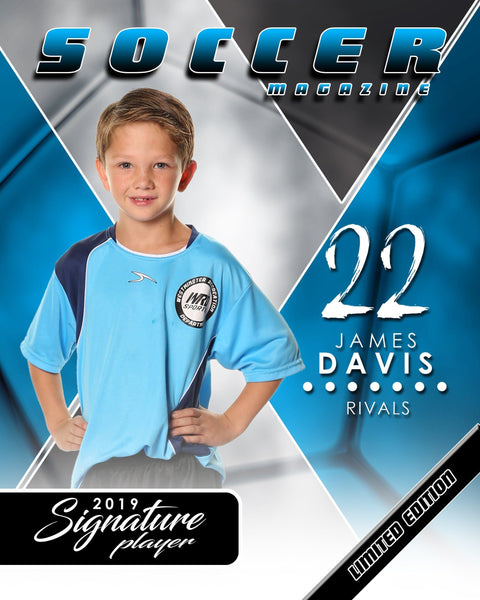 Signature Player - Soccer - V2 - T&I Extraction Collection-Photoshop Template - Photo Solutions