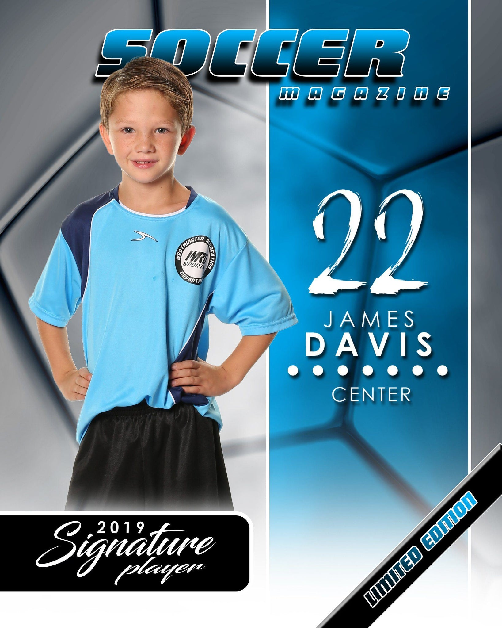 Signature Player - Soccer - V1 - Extraction Magazine Cover Template-Photoshop Template - Photo Solutions