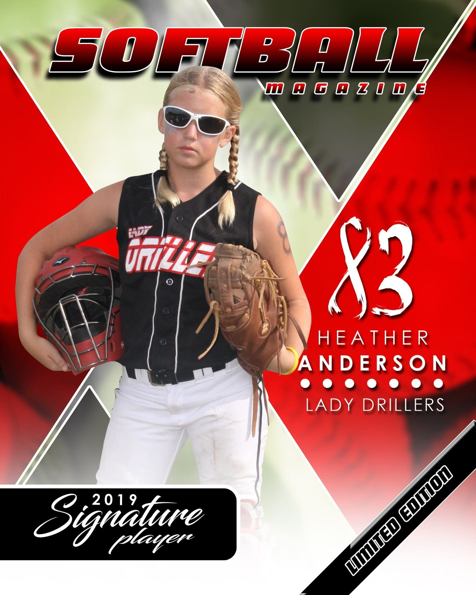 Signature Player - Softball - V2 - Extraction Magazine Cover Template-Photoshop Template - Photo Solutions