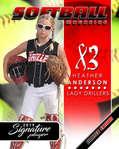 Signature Player - Softball - V1 - Extraction Magazine Cover Template