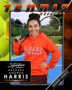 Signature Player - Tennis - V2 - Drop-In Magazine Cover Template Downloadable Template Photo Solutions PSMGraphix